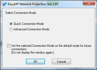 Epson Wireless Quick Connection Mode