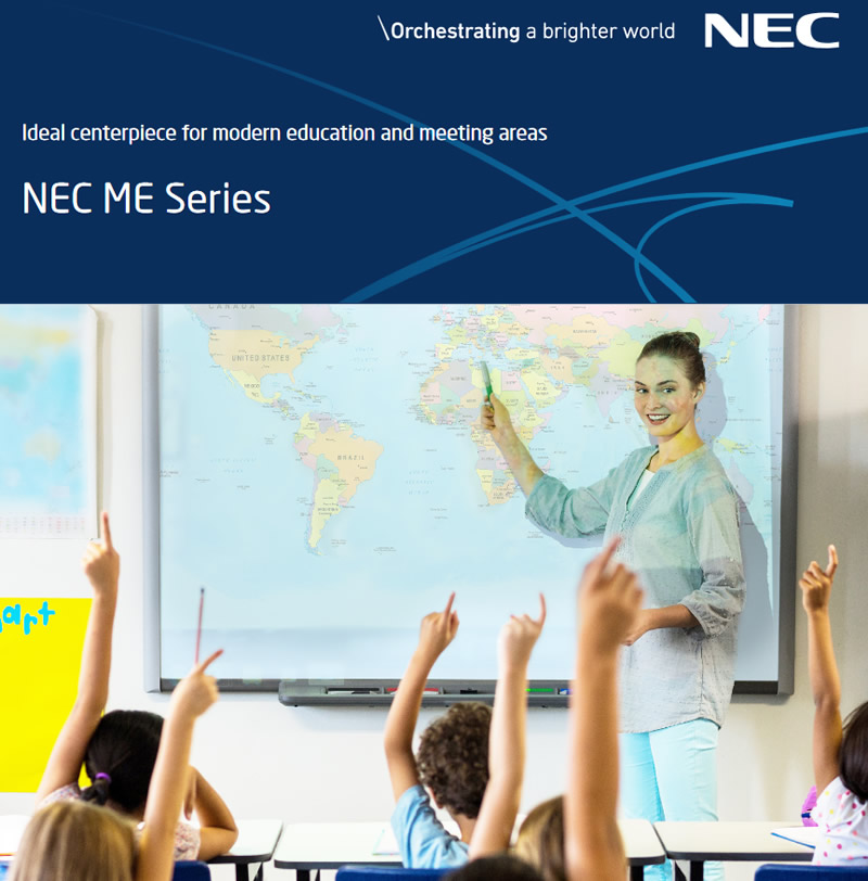 NEC ME Series Banner