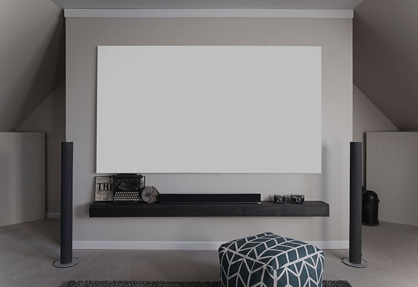 Elite Screens Fixed Frameless Cinewhite Screen