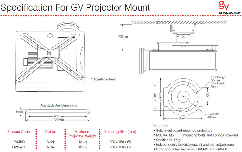 PRojector Mount Technical