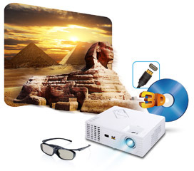 Projector 3D bluray